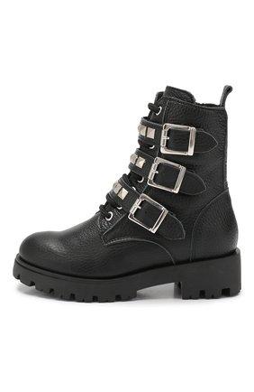 Детские кожаные ботинки TREVIRGOLAZERO 3,0 черного цвета, арт. J0DY/30-36 | Фото 2