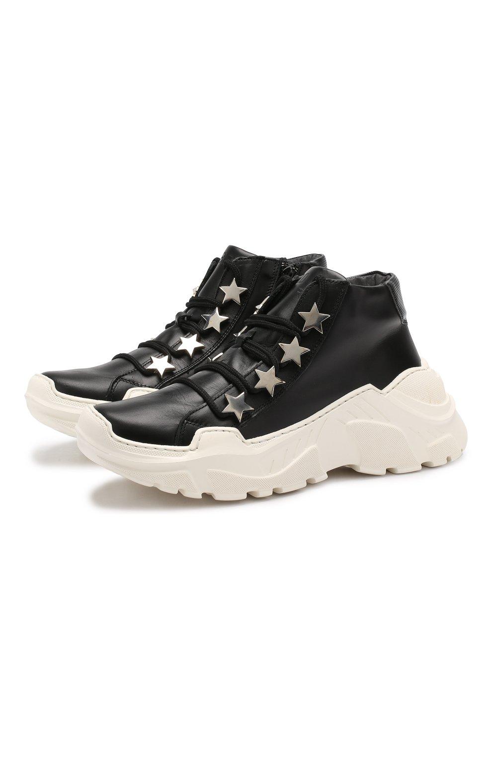Детские кожаные кроссовки TREVIRGOLAZERO 3,0 черного цвета, арт. EMILY/37-40 | Фото 1