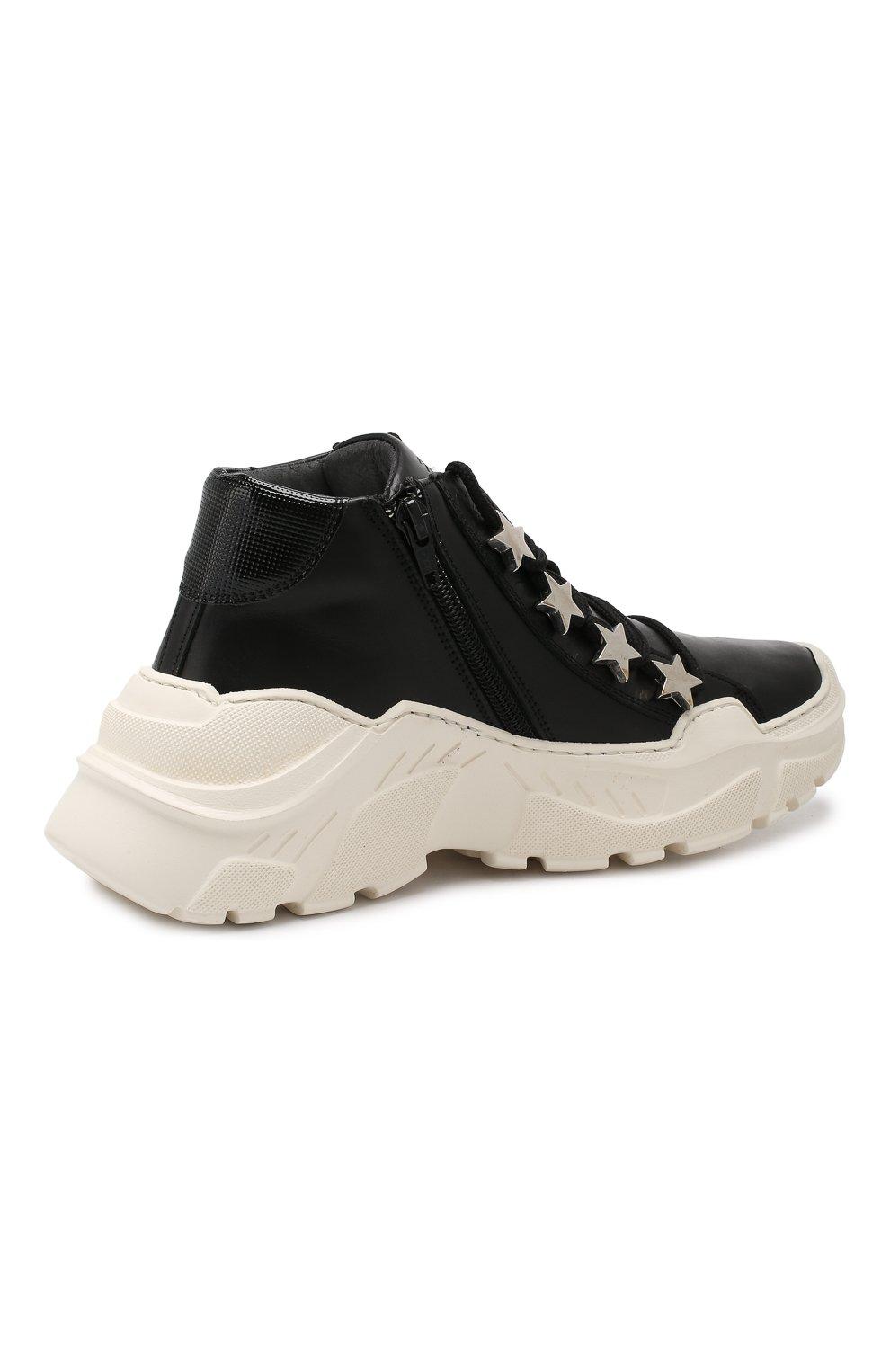 Детские кожаные кроссовки TREVIRGOLAZERO 3,0 черного цвета, арт. EMILY/37-40 | Фото 3
