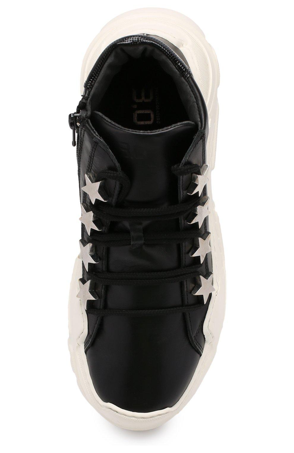 Детские кожаные кроссовки TREVIRGOLAZERO 3,0 черного цвета, арт. EMILY/37-40 | Фото 4