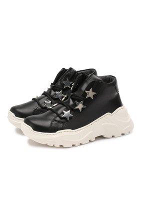 Детские кожаные кроссовки TREVIRGOLAZERO 3,0 черного цвета, арт. EMILY/30-36 | Фото 1
