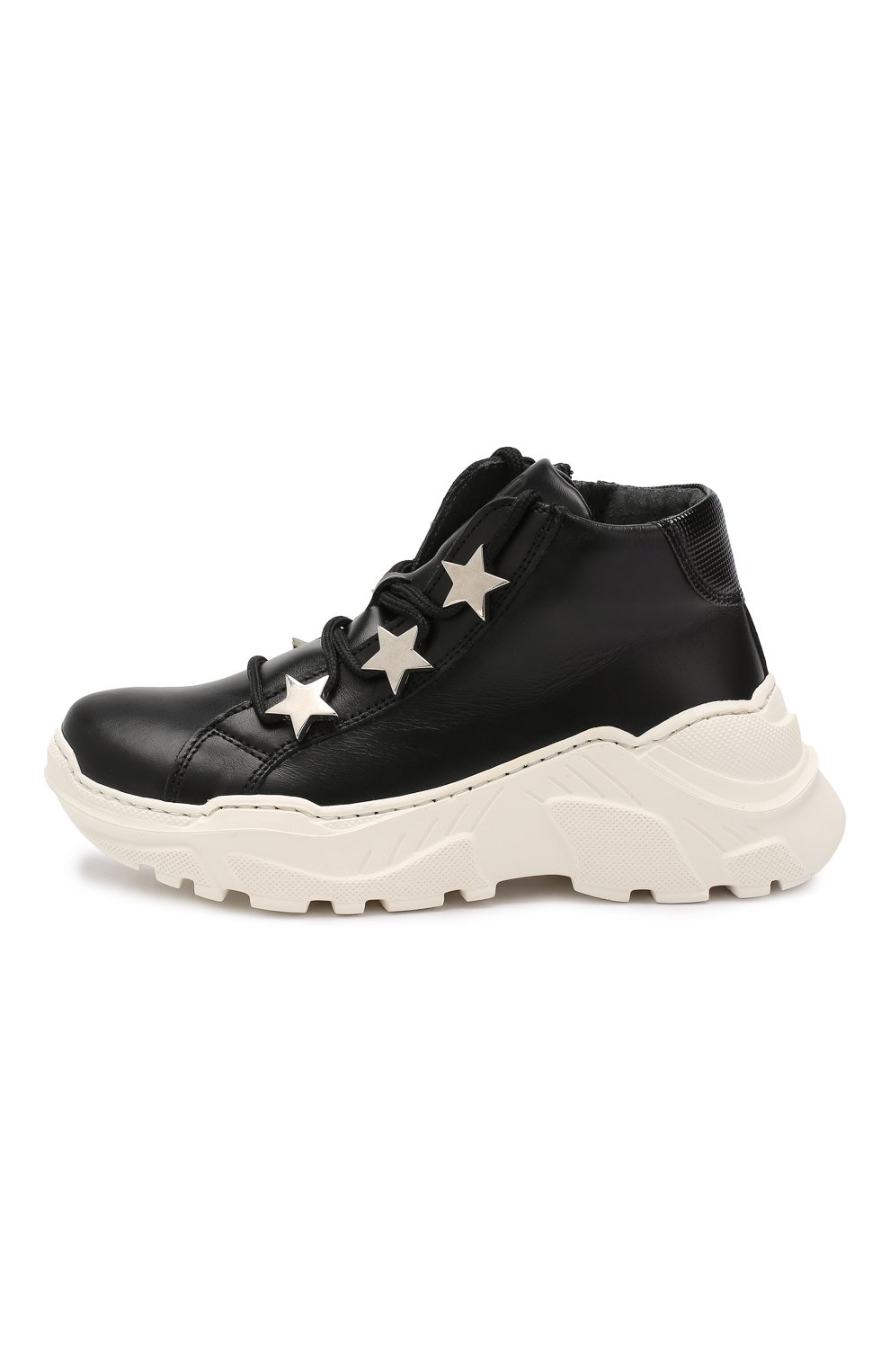 Детские кожаные кроссовки TREVIRGOLAZERO 3,0 черного цвета, арт. EMILY/30-36 | Фото 2