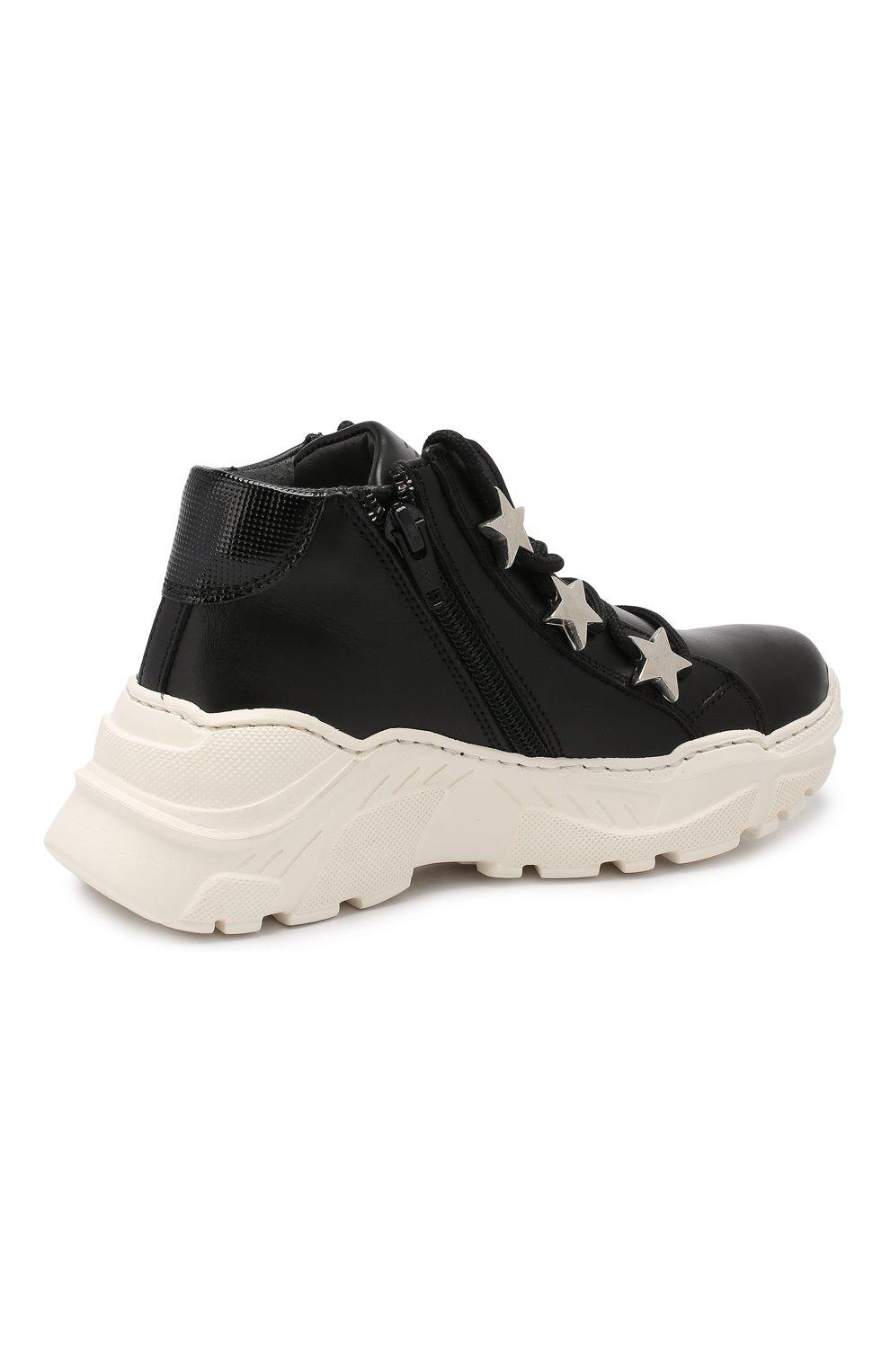 Детские кожаные кроссовки TREVIRGOLAZERO 3,0 черного цвета, арт. EMILY/30-36 | Фото 3