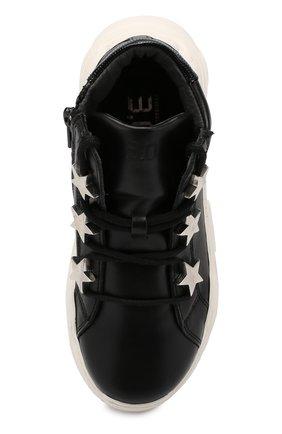 Детские кожаные кроссовки TREVIRGOLAZERO 3,0 черного цвета, арт. EMILY/30-36 | Фото 4