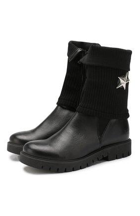Детские кожаные сапоги TREVIRGOLAZERO 3,0 черного цвета, арт. BETTA/37-40 | Фото 1