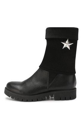 Детские кожаные сапоги TREVIRGOLAZERO 3,0 черного цвета, арт. BETTA/37-40 | Фото 2