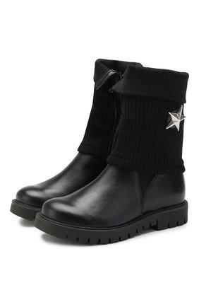 Детские кожаные сапоги TREVIRGOLAZERO 3,0 черного цвета, арт. BETTA/30-36 | Фото 1