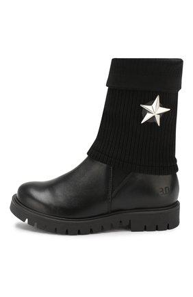 Детские кожаные сапоги TREVIRGOLAZERO 3,0 черного цвета, арт. BETTA/30-36 | Фото 2