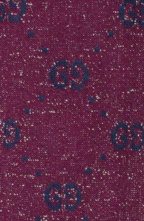 Детские хлопковые гольфы GUCCI фиолетового цвета, арт. 480715/4K443 | Фото 2