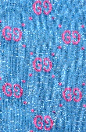Детские хлопковые гольфы GUCCI голубого цвета, арт. 480715/4K443 | Фото 2