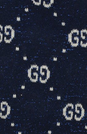 Детские хлопковые гольфы GUCCI синего цвета, арт. 480715/4K443 | Фото 2