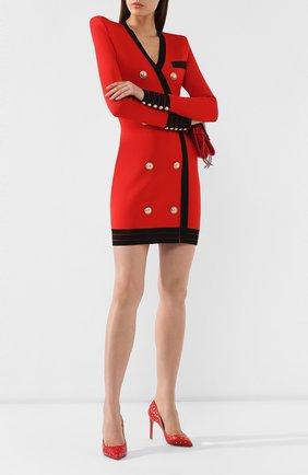 Женская кожаные туфли valentino garavani rockstud spike VALENTINO красного цвета, арт. SW2S0H89/NSN | Фото 2