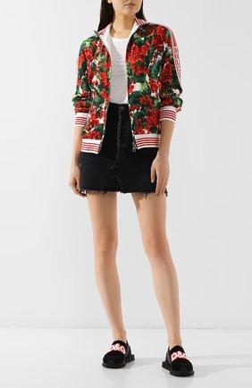 Женские текстильные кроссовки sorrento  DOLCE & GABBANA черного цвета, арт. CK1595/AA107 | Фото 2