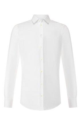 Мужская хлопковая сорочка DOLCE & GABBANA белого цвета, арт. G5EJ0T/FJ5F0   Фото 1