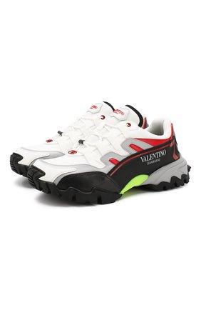 Мужские комбинированные кроссовки valentino garavani climbers VALENTINO белого цвета, арт. SY2S0C20/RIC | Фото 1