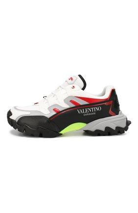 Мужские комбинированные кроссовки valentino garavani climbers VALENTINO белого цвета, арт. SY2S0C20/RIC | Фото 3