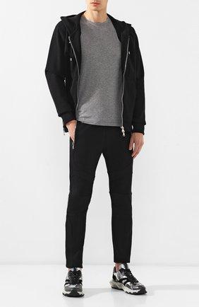 Мужская хлопковая футболка VALENTINO серого цвета, арт. SV3MG02D5GT | Фото 2