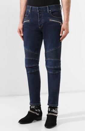 Мужские джинсы BALMAIN синего цвета, арт. SH15342/Z162 | Фото 3