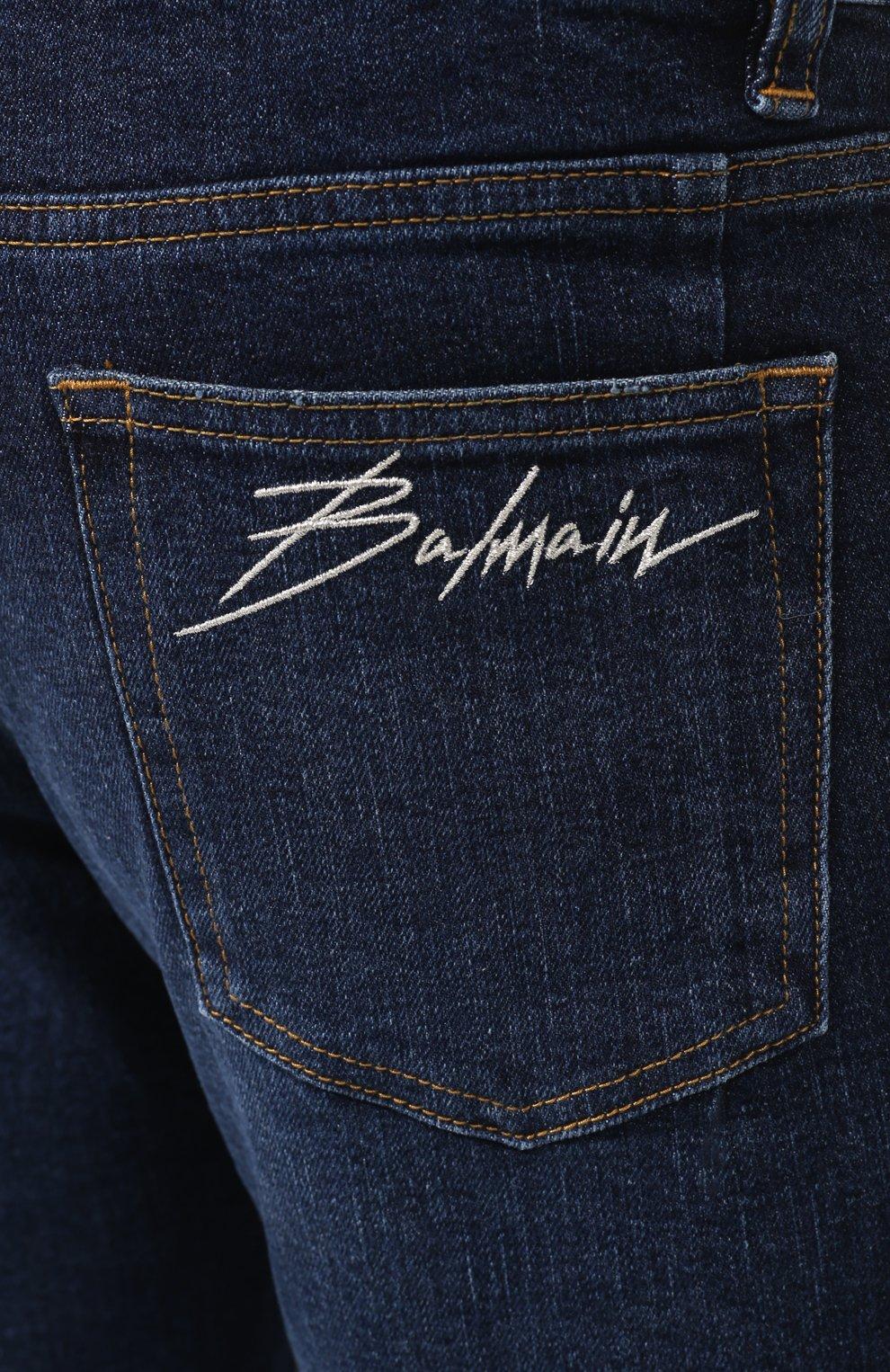 Мужские джинсы BALMAIN синего цвета, арт. SH15342/Z162 | Фото 5