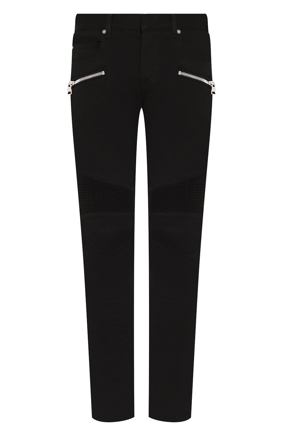 Мужские джинсы BALMAIN черного цвета, арт. SH15300/Z033 | Фото 1