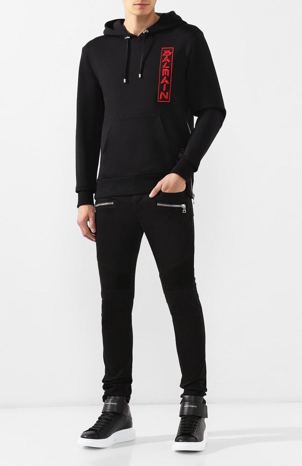 Мужские джинсы BALMAIN черного цвета, арт. SH15300/Z033 | Фото 2