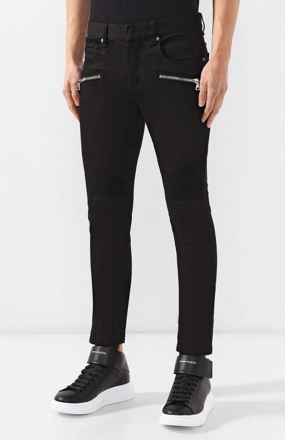 Мужские джинсы BALMAIN черного цвета, арт. SH15300/Z033 | Фото 3