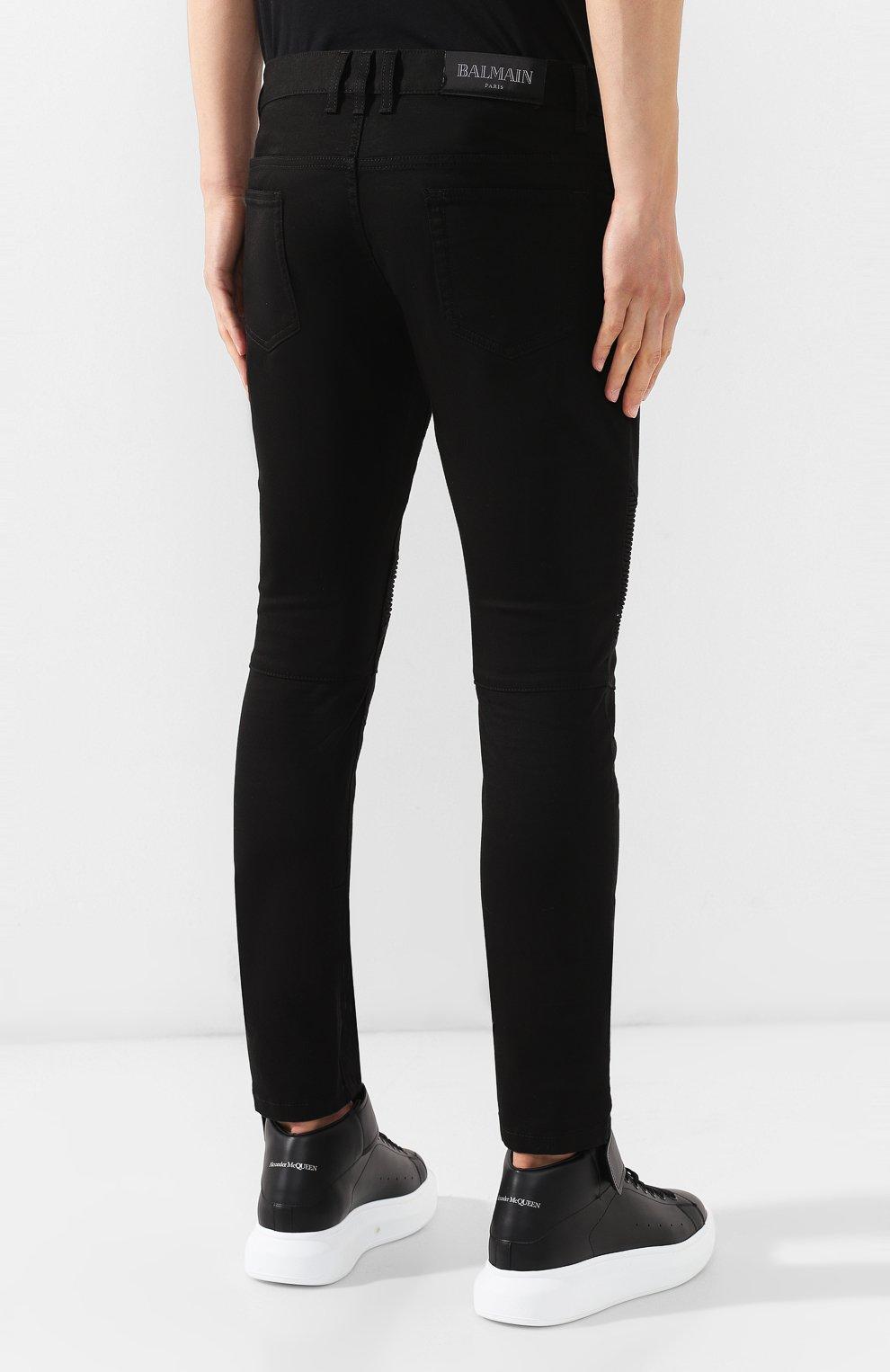 Мужские джинсы BALMAIN черного цвета, арт. SH15300/Z033 | Фото 4