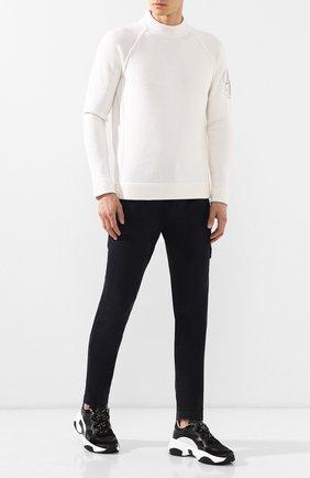Мужские кожаные кроссовки TOD'S черного цвета, арт. XXM57B0BL40LB9 | Фото 2