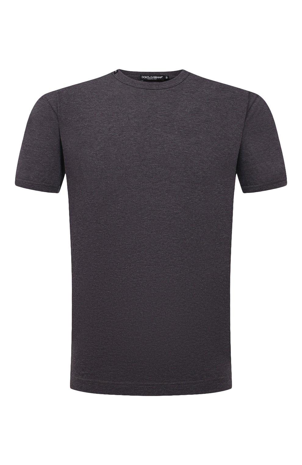 Мужская хлопковая футболка DOLCE & GABBANA темно-серого цвета, арт. G8JX7T/FU7EQ | Фото 1
