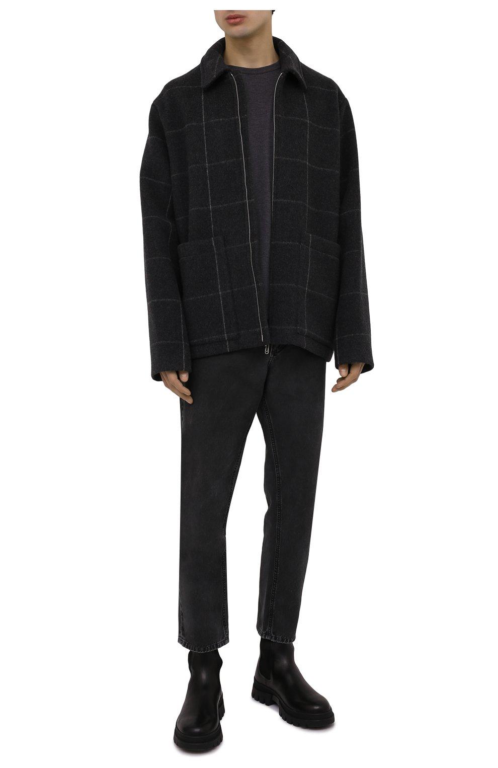 Мужская хлопковая футболка DOLCE & GABBANA темно-серого цвета, арт. G8JX7T/FU7EQ | Фото 2
