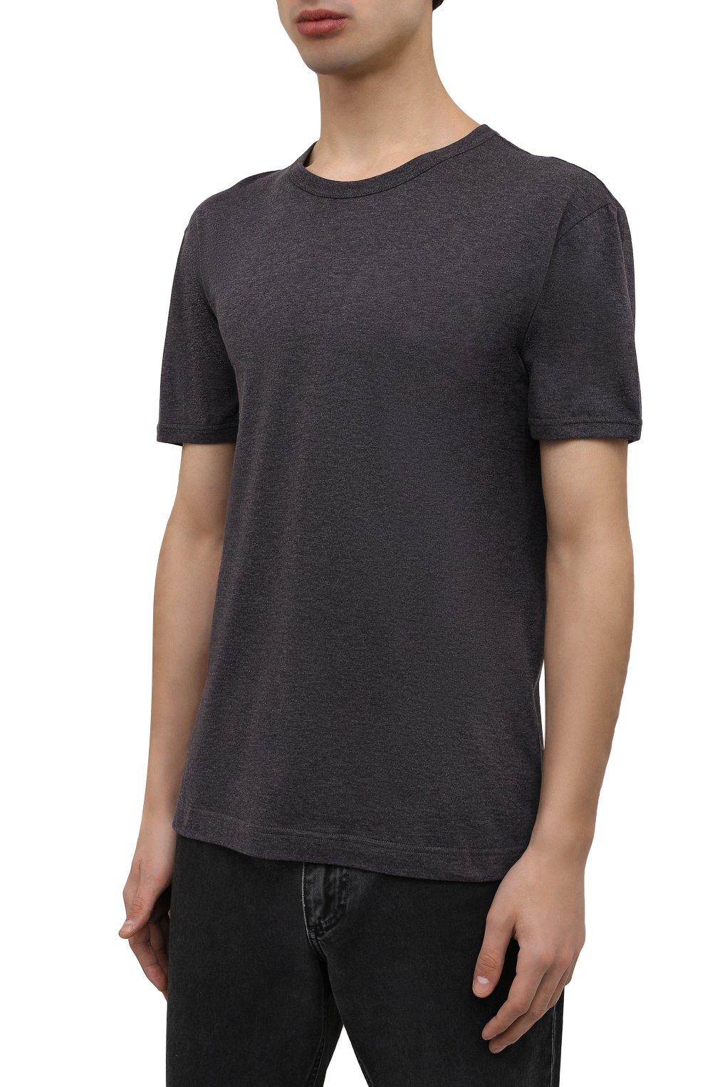 Мужская хлопковая футболка DOLCE & GABBANA темно-серого цвета, арт. G8JX7T/FU7EQ | Фото 3