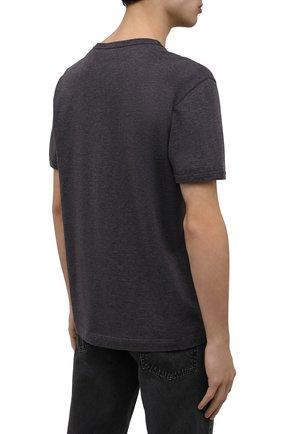 Мужская хлопковая футболка DOLCE & GABBANA темно-серого цвета, арт. G8JX7T/FU7EQ | Фото 4