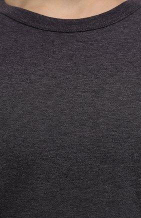 Мужская хлопковая футболка DOLCE & GABBANA темно-серого цвета, арт. G8JX7T/FU7EQ | Фото 5