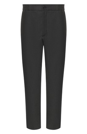 Мужской шерстяные брюки GUCCI темно-серого цвета, арт. 568612/ZABW0 | Фото 1