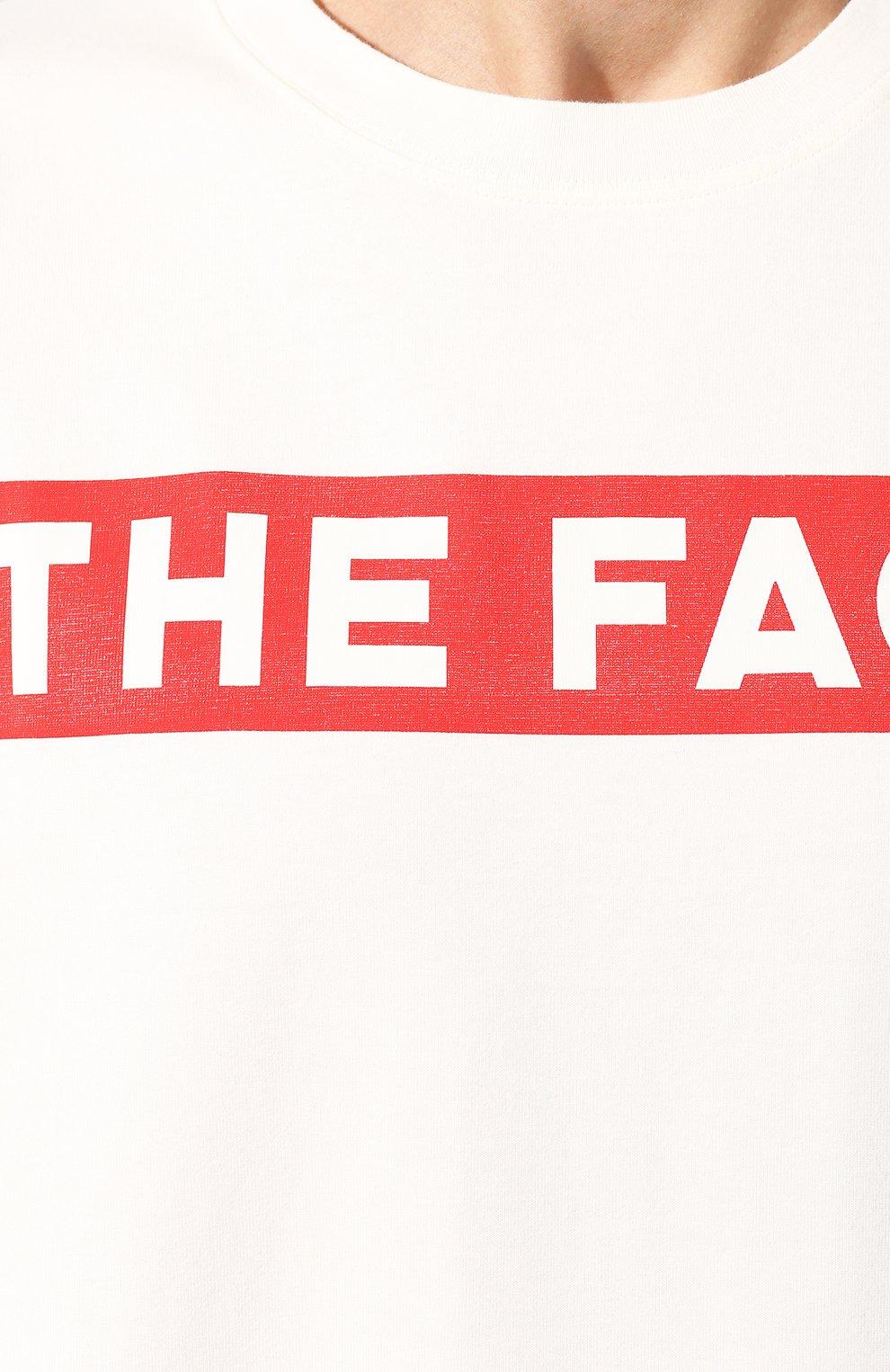 Мужская хлопковая футболка GUCCI белого цвета, арт. 565806/XJBCS   Фото 5
