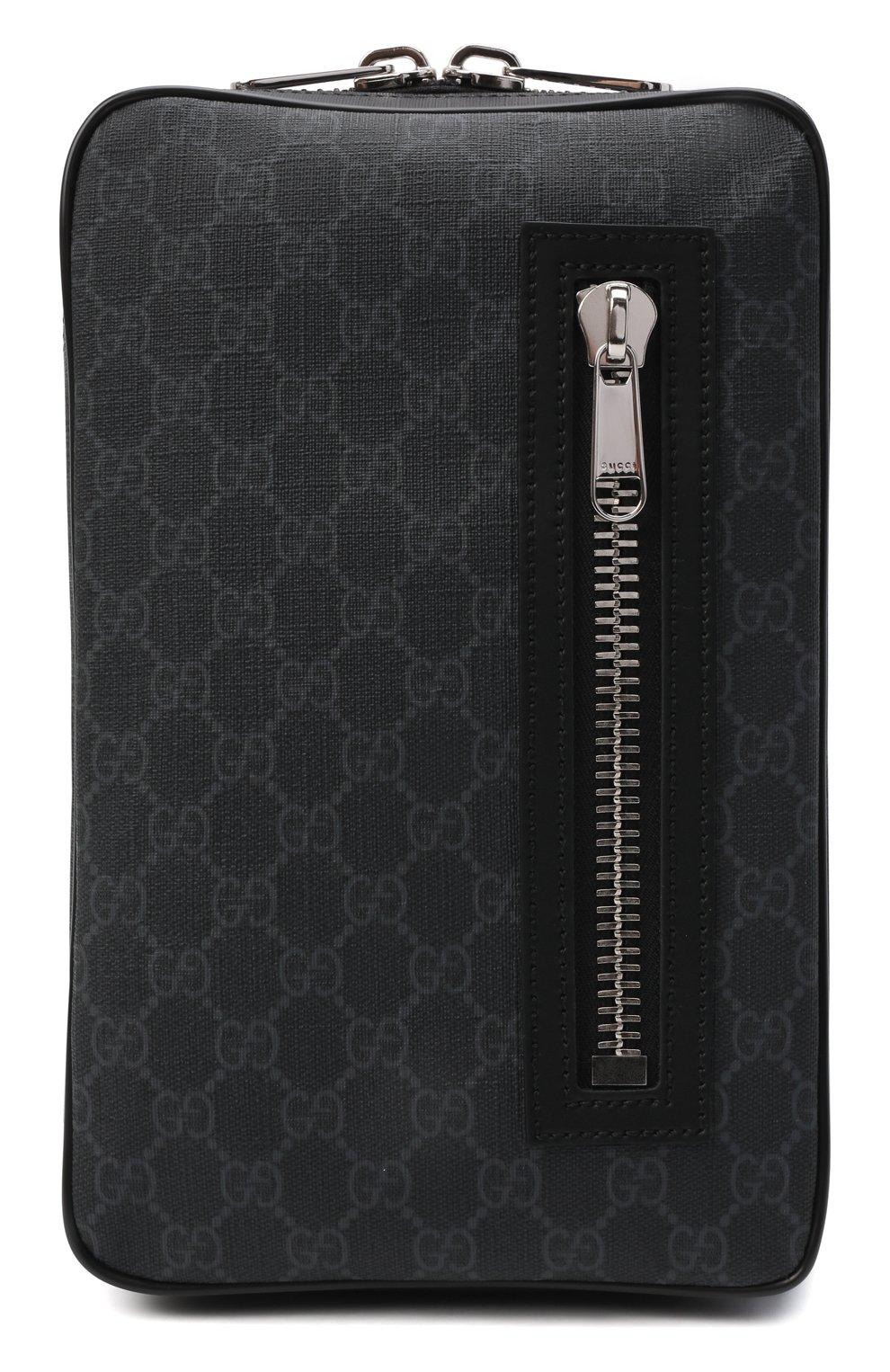 Мужская сумка gg supreme GUCCI черного цвета, арт. 478325/K9RRN | Фото 1