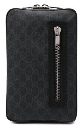Мужская сумка gg supreme GUCCI черного цвета, арт. 478325/K9RRN   Фото 1