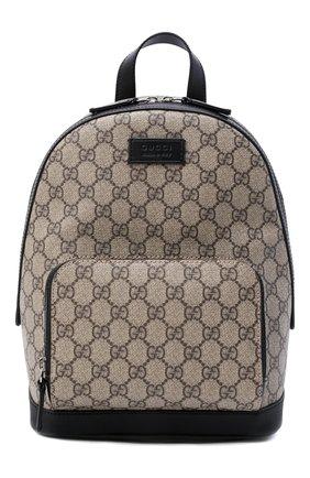 Мужской рюкзак gg supreme GUCCI бежевого цвета, арт. 429020/KLQAX | Фото 1