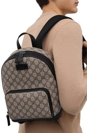 Мужской рюкзак gg supreme GUCCI бежевого цвета, арт. 429020/KLQAX | Фото 2