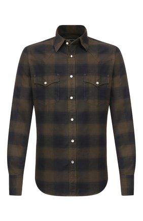 Мужская хлопковая рубашка TOM FORD черного цвета, арт. 6FT523/94MEKI | Фото 1