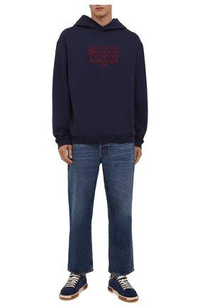Мужские замшевые кеды portofino light DOLCE & GABBANA синего цвета, арт. CS1705/AA336   Фото 2 (Подошва: Плоская; Статус проверки: Проверена категория; Материал внешний: Замша; Материал внутренний: Натуральная кожа)