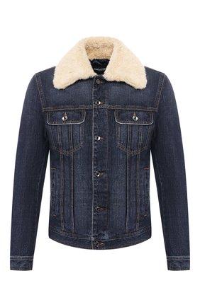 Мужская джинсовая куртка DOLCE & GABBANA темно-синего цвета, арт. G9PK3Z/G8BG0 | Фото 1
