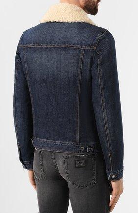 Мужская джинсовая куртка DOLCE & GABBANA темно-синего цвета, арт. G9PK3Z/G8BG0 | Фото 4