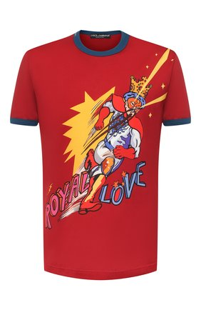 Мужская хлопковая футболка DOLCE & GABBANA красного цвета, арт. G8JX7T/HH79U | Фото 1