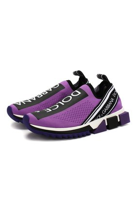 Женские текстильные кроссовки sorrento DOLCE & GABBANA фиолетового цвета, арт. CK1595/AH677 | Фото 1