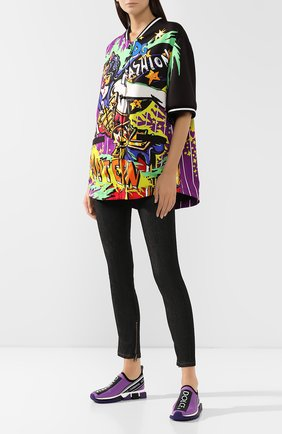 Женские текстильные кроссовки sorrento DOLCE & GABBANA фиолетового цвета, арт. CK1595/AH677 | Фото 2