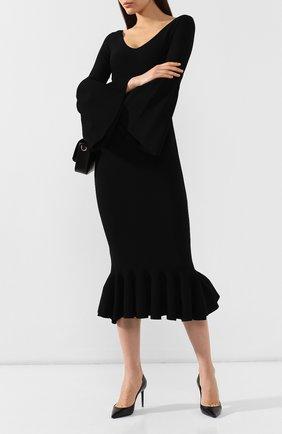 Женская кожаные туфли zoe SAINT LAURENT черного цвета, арт. 529731/AKP00 | Фото 2