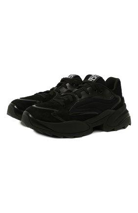 Женские замшевые кроссовки sergio extreme SERGIO ROSSI черного цвета, арт. A86730-MFN746 | Фото 1