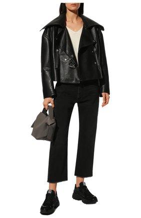Женские замшевые кроссовки sergio extreme SERGIO ROSSI черного цвета, арт. A86730-MFN746 | Фото 2