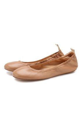 Женские кожаные балетки audrey GIANVITO ROSSI бежевого цвета, арт. G21785.05CU0.NAPPRAL | Фото 1